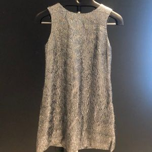 Shoshanna Party Dress Silver approx size 2/4